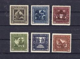 AUTRICHE 1926 Zumstein N° 462-467 Neuf X - 1918-1945 1st Republic