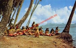 Beautiful Tahitian Hula Girls - Punauia - Tahiti - Tahiti