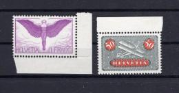 SUISSE Poste Aérienne1933-1937  Zumstein N° 9z/12z Neuf XX - Airmail