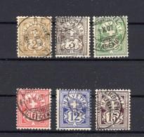 SUISSE 1906 Zumstein N°  80-85 Obl. Série Complète  ( Michel N° 82-87 ) - 1882-1906 Coat Of Arms, Standing Helvetia & UPU