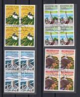 SUISSE 1987 Zumstein N° 753-756 / Mi 1354yb-1357yb  En Blocs De 4 Obl. Centrale 1er Jour - Switzerland
