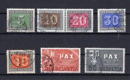 SUISSE  1945 PAX   Zumstein N° 262-268 / Mi 447-453 Obl. - Switzerland