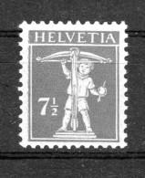 SUISSE 1918  Zumstein N° 138 II / Mi 138 II   Neuf XX - 1854-1862 Helvetia (Imperforates)