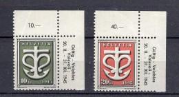 SUISSE  1945  Zumstein N° W19-W20 XX - 1882-1906 Coat Of Arms, Standing Helvetia & UPU