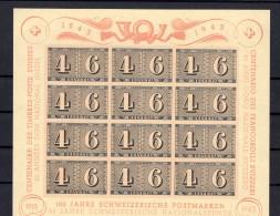 SUISSE  1943 Zumstein  Bloc N° 16 Mi Bl  9  Neuf XX - Unused Stamps