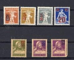 SUISSE   1920-1921 Zumstein N° 146-150A / 150B Neufs XX - Unused Stamps