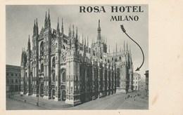 CPA - ROSA HOTEL MILANO. A. Trüb E& Cie, Aarau-Lugano. - Milano (Milan)