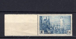 FRANCE  1936  Yvert N°  328  Neufs  XX   Bord De Feuille - France