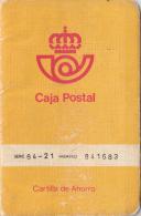 ESPAÑA  --  CARTILLA  DE AHORROS  DE  LA CAJA POSTAL  AÑO 1980 - Documentos Históricos
