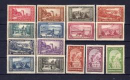 MONACO 1933-1937  Yvert N° 119-134  Neuf X  Charnière Légère  ( Manque Le N° 131 )  (cote 580 € ) - Unused Stamps