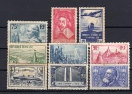 FRANCE  1935-1936 Yvert N° 290/299/301/305/331/317/319/320/328 Neuf X Avec Charnière  (cote 170€) - France