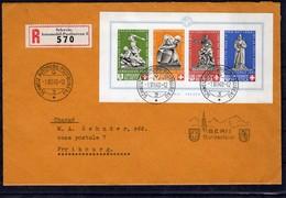 SUISSE Pro Patria 1940  Zumstein N° B 12 Obl. 1.8 1940 Automobile-poste-bureau .Lettre Recommandée Pour Fribourg - Pro Patria