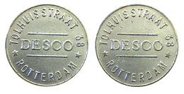 00221 GETTONE TOKEN JETON FICHA AMUSEMENT MACHINE DESCO ROTTERDAM TOLHUISSTRAAT 38 - Netherland