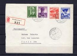 SUISSE   Pro Juventute 1939   Zumstein N° 89-92  Sur Devant De Lettre Pour PARIS - Pro Juventute