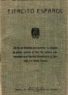 ESPAÑA  --  CARTILLA  MILITAR AÑO  1957  ALISTAMIENTO AL EJERCITO - 1939-45
