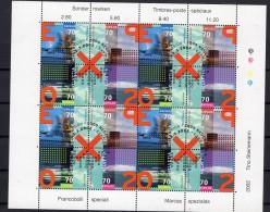 SUISSE   EXPO 02  Zustein N° 1041-1044 En Feuillet Obl. Centrale 1er Jour  2.3.2002 - Blocks & Sheetlets & Panes