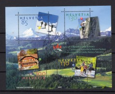 SUISSE   2005  Zumstein N° 1172  Obl. 1er Jour Centrale Avec Fleurs - Blocks & Sheetlets & Panes