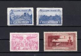 FRANCE  VIGNETTES La Somme Dévastée / Expo 1900 / La Belle France - Other