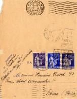 FRANCE Entier Carte Lettre De Beaulieu-sur-Mer Pour ROME Avec Compl.d'affranchissement 25.2.1938 - Postal Stamped Stationery