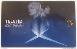 FAROE ISLANDS - Woman And Man , 100 Kr,  Teletid, Expire Date 01/04/2007 , Used - Faroe Islands