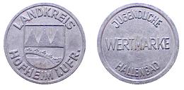 01804 GETTONE TOKEN JETON FICHA ACCES TOKEN  LANDKREIS Hofheim In Unterfranken JUGENDLICHE WERTMARKE HALLENBAD - Allemagne