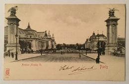 PARIS  - AVENUE NICOLAS II  VIAGGIATA FP - Francia