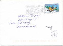 France Cover Underpaid With Postal Due T Sent To Denmark Ceret 12-12-2005 Single Franked Christmas Stamp - Frankrijk