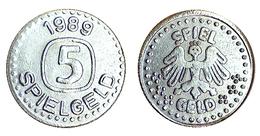 03543 GETTONE TOKEN JETON FICHA PLAY TOKEN COUNTER TOKEN 5 SPIELGELD 1989 - Allemagne