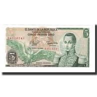 Colombie, 5 Pesos Oro, 1980-01-01, KM:406f, NEUF - Colombie