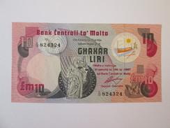 Malta 10 Lira 1967(1979) Banknote UNC - Malta