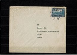 CTN50 - COSTA RICA LETTRE DE JUILLET 1939 POUR PARIS - Costa Rica