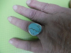 Bague Argent Massif Taille 55 - Anelli