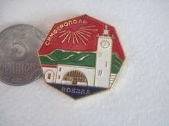 Russia USSR Simferopol Railway Terminal - Badges