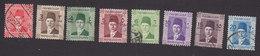 Egypt, Scott #207-212, 214-215, Used, King Fuad, Issued 1937 - Egypt