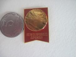 USSR Russia Oil Transportatioon Pipe Syatem - Badges