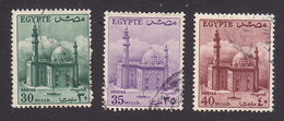 Egypt, Scott #331, 333, 335, Used, Mosque Of Sultan Hassan, Issued 1953 - Used Stamps