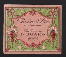 Parfum  Sachet Poudre De Riz Vide Parfumerie Nogara Grasse Cartes Parfumées Carte Parfumée - Cartes Parfumées