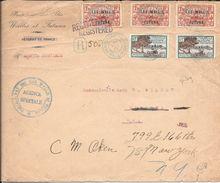 AN 1933 PROTECTORAT DES ILES WALLIS ET FUTUNA SPECTACULAR 2 COLOURS HIGH FRANKING COVER SENT TO NEW YORK - Wallis En Futuna