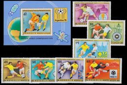 Soccer Football Mongolia #1148/54 + Bl 53 1978 World Cup Argentina MNH ** - 1978 – Argentine