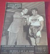 Miroir Sprint N°121 Septembre 1948 Georges CARPENTIER Conseille Marcel CERDAN Avant Son Combat Contre Tony ZALE - Sport