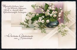 A7059 - Alte Litho Glückwunschkarte - Geburtstag - Gera - Werbestempel 1941 - Cumpleaños