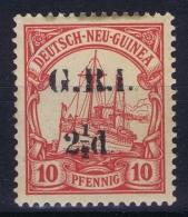 Deutsch-Neuguinea: Mi Nr 5 II Britische Besetzung  MH/* Falz/ Charniere Signed/ Signé/signiert BPP Kil - Colonia: Nuova Guinea