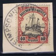 Deutsch-Neuguinea: Mi Nr 13 Cancel SIMPSONHAFEN Friedemann Stempel 22 - Kolonie: Duits Nieuw-Guinea
