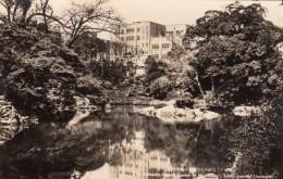 Tokyo Japan, Imperial University Central Garden Building On Hill, C1930s/50s Vintage Real Photo Postcard - Tokyo