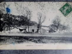 CPSM 13 - LAMANON - En Provence Dans Le Village De Lamanon Tache D Encre - Otros Municipios