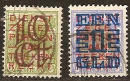 Pays-Bas Nederland 1923 Yvertn° 129-130 (°) Oblitéré Used Cote 25 Euro - Oblitérés