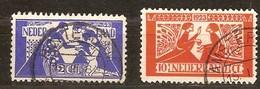 Pays-Bas Nederland 1923 Yvertn° 131-132 (°) Oblitéré Used Cote 44 Euro - 1891-1948 (Wilhelmine)