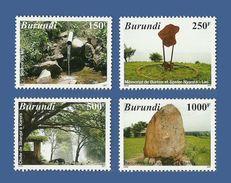 BURUNDI 2007 - TOURISME AU BURUNDI TOURISM - CHUTE SOURCE D'EAU EAU WATER WATERFALL FALLS LAC LAKE RARE - FULL SET - MNH - Minéraux