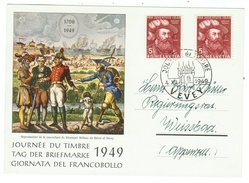 Suisse // Schweiz // Switzerland //  1940-1949 // Carte De La Journée Du Timbre 1949 - Svizzera