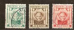 Pays-Bas Nederland 1924 Yvertn° 159-161 (°) Oblitéré Used Cote 13,50 Euro - 1891-1948 (Wilhelmine)